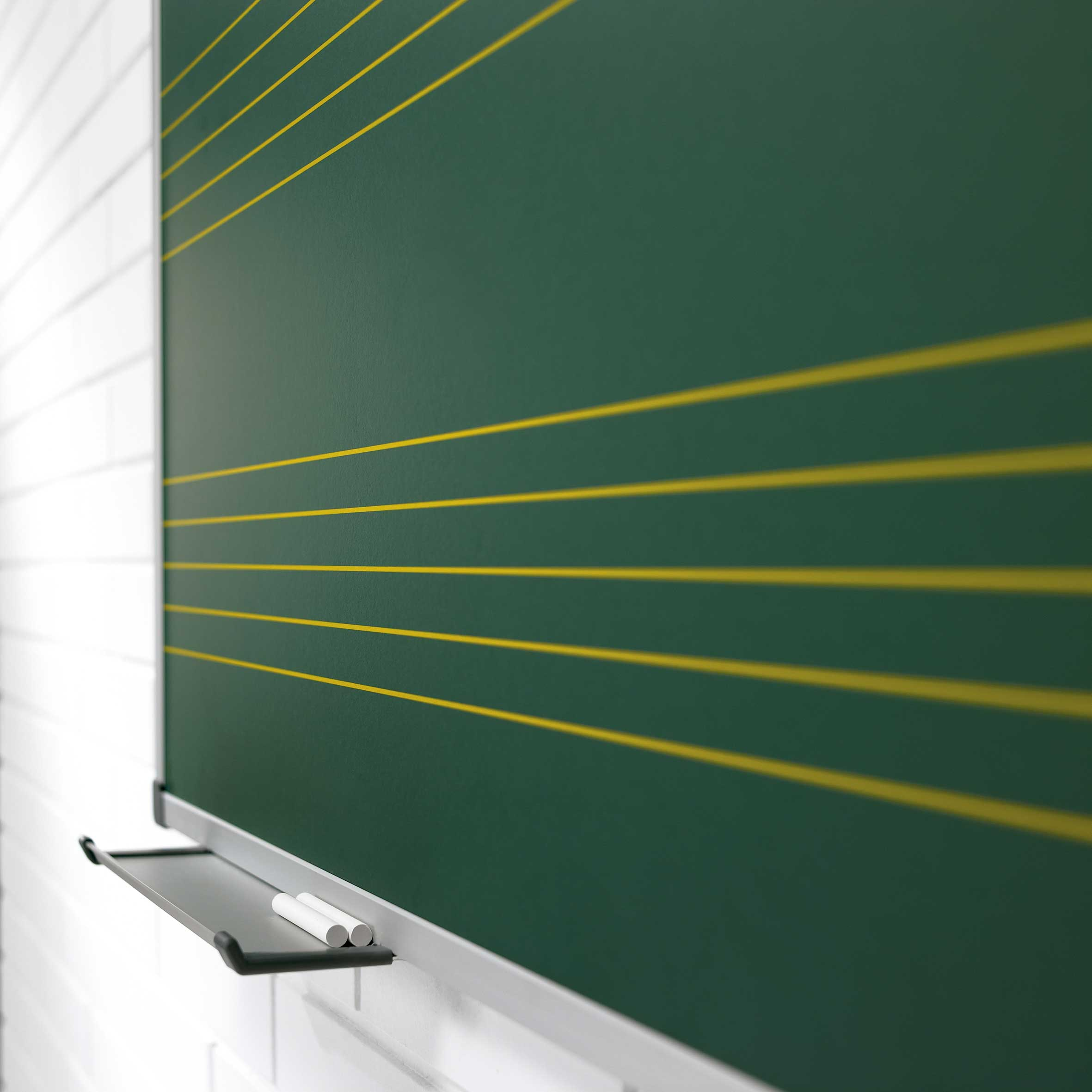 730/A/P - Pizarra mural verde acero vitrificado pentagrama ...